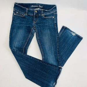 American Eagle Womens Jeans 4 Short Blue Artist